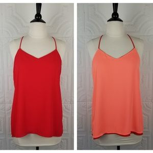 Express Red & Coral Reversible Barcelona Cami